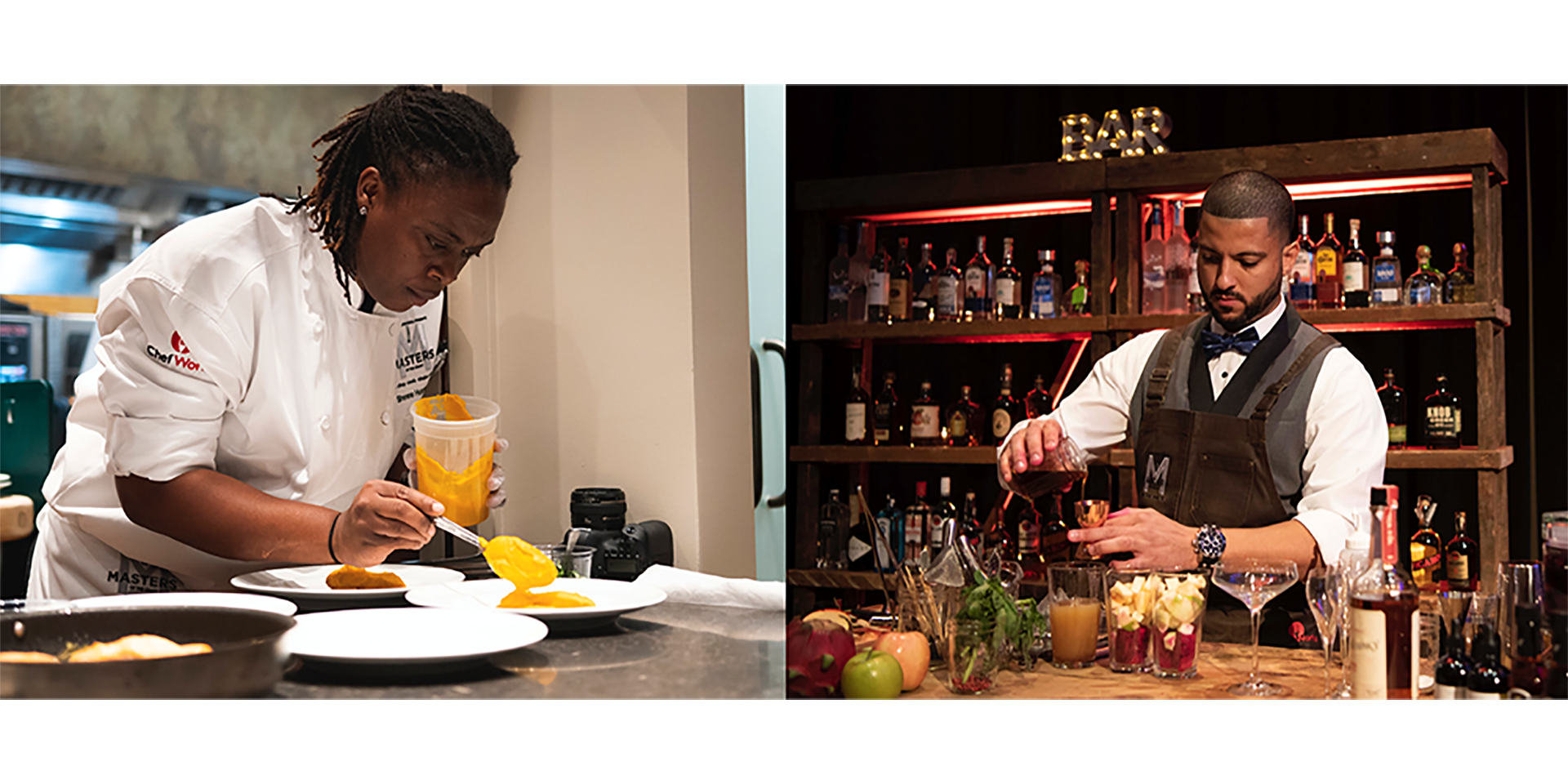 Masters of the Craft winners Sherene Hutchinson and Jonathan Miller compete in the competition's final round at Marriott International Headquarters.