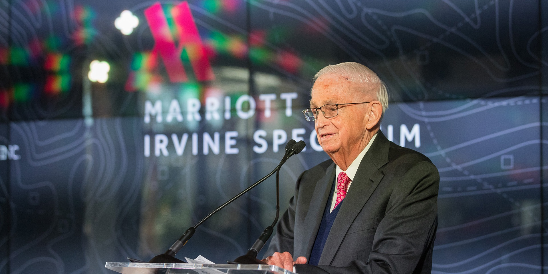 Grand Opening celebrations at the Marriott Irvine Spectrum with J.W. Marriott Jr., Chairman of the Board of Marriott International, in Irvine, Calif., on March 27, 2018. (Jeff Lewis/ AP Images for Marriott Hotels)