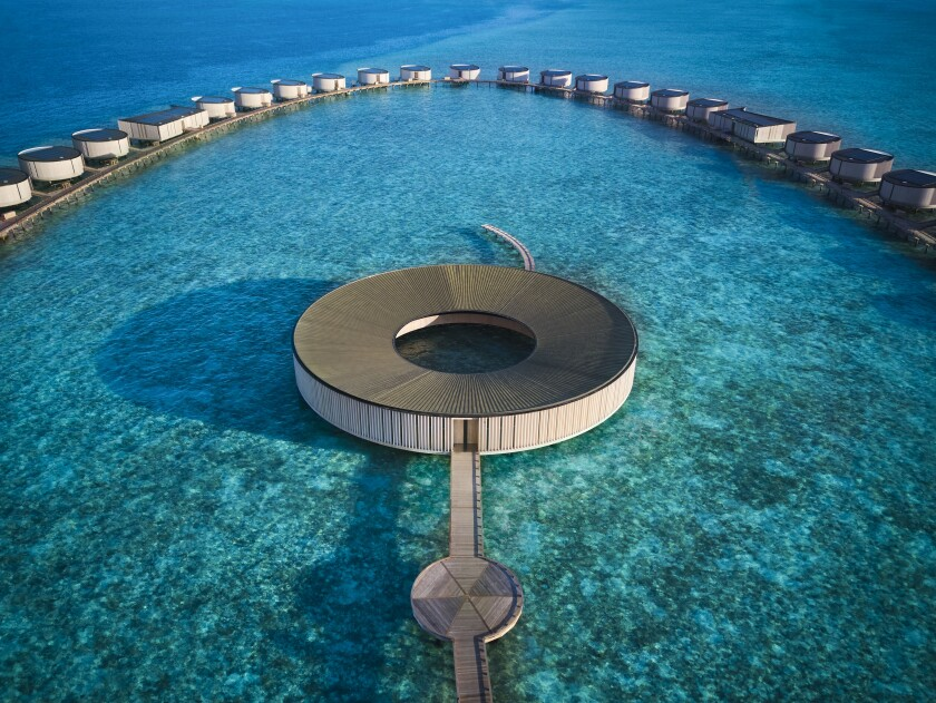 The Ritz-Carlton Maldives, Fari Islands - The Ritz-Carlton Spa - Aerial view