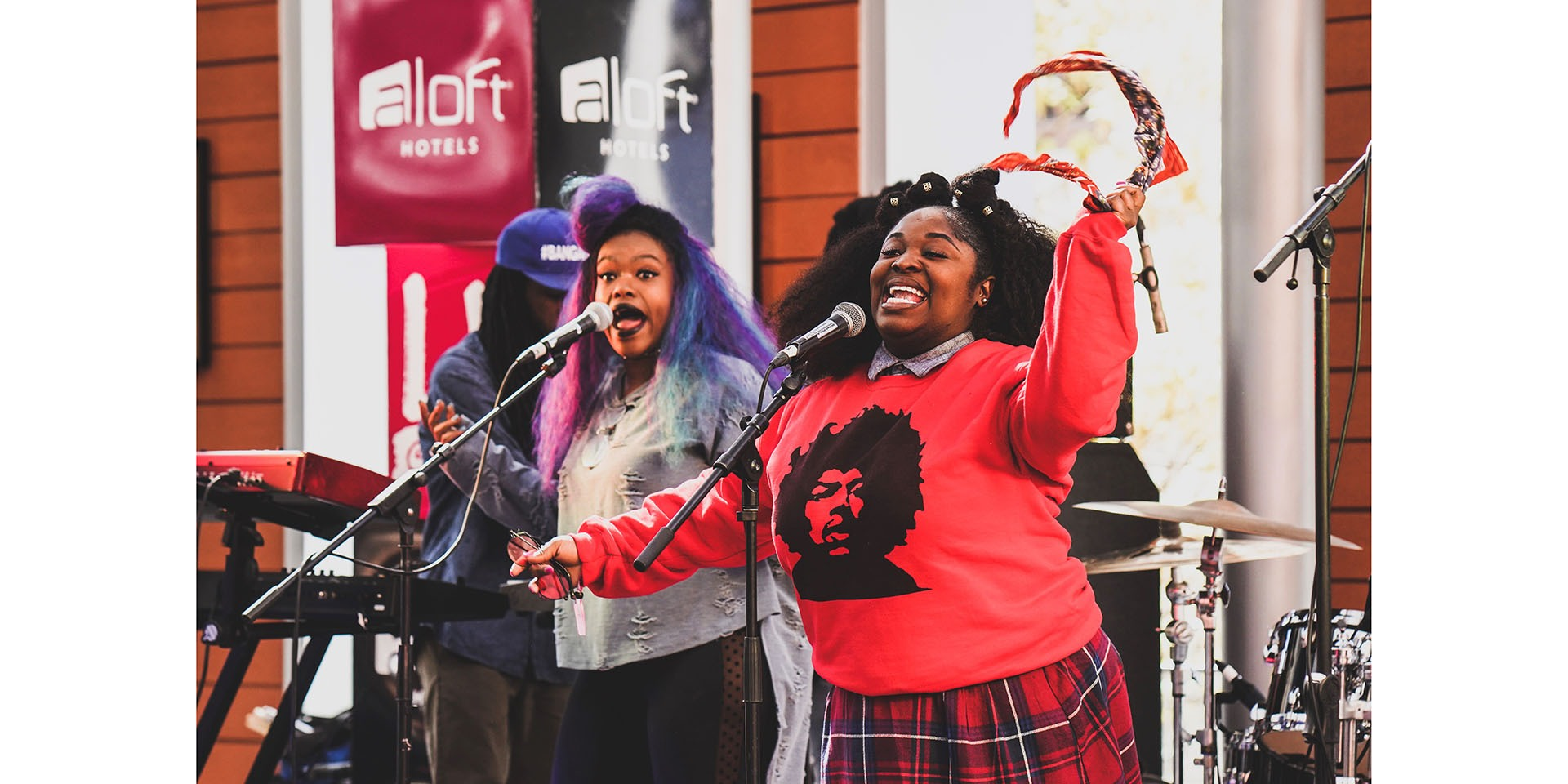 Tank & the Bangas performing at Aloft Austin Downtown during the 2018 South by Southwest® (SXSW®) Conference and Festivals