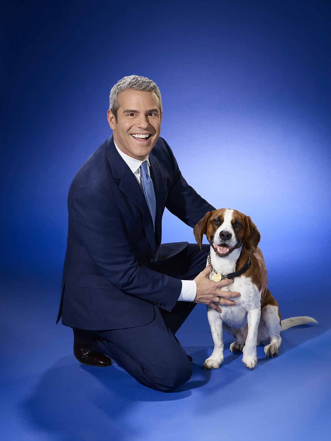 TV Host, Andy Cohen and his dog Wacha, launch the Dog Days of Summer adoption event at Residence Inn by Marriott Central Park (NYC)
